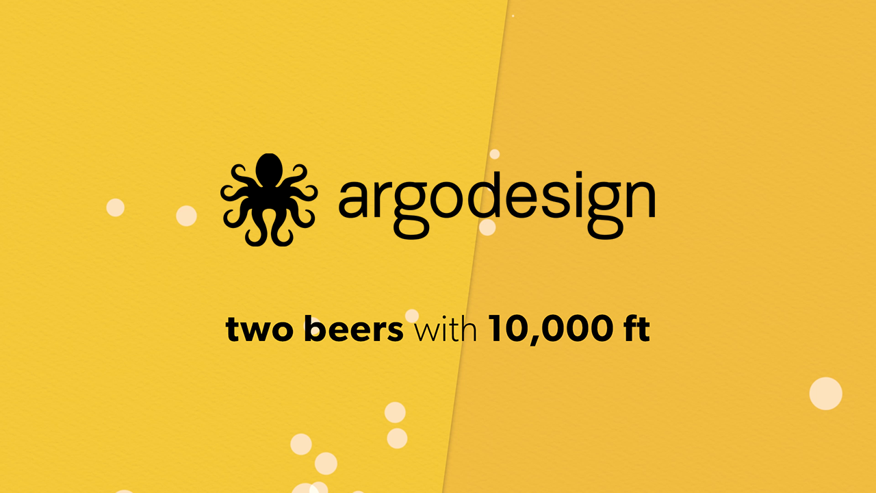 Argodesign interview with 10,000ft